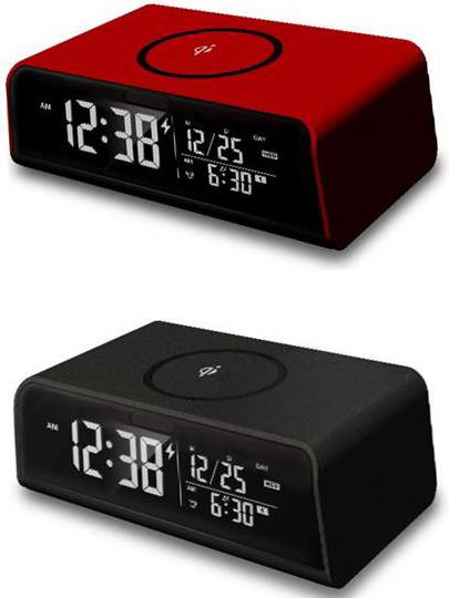 【限定クーポン】スマートフォン 充電機能付きクロック 置き時計 ワイヤレスチャージングクロック スマホ充電 ワイヤレス充電 IQ充電 USB充電