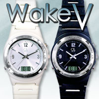 【限定クーポン】強力振動目覚まし腕時計Wake V(ウエイクブイ)