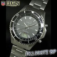 【期間限定クーポン】エルジン チタンソ-ラ-電波ウォッチ FK1396TI-BP