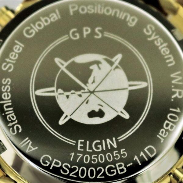 ELGIN(エルジン) 天然ダイヤ11石使用 GPS衛星電波ウォッチ