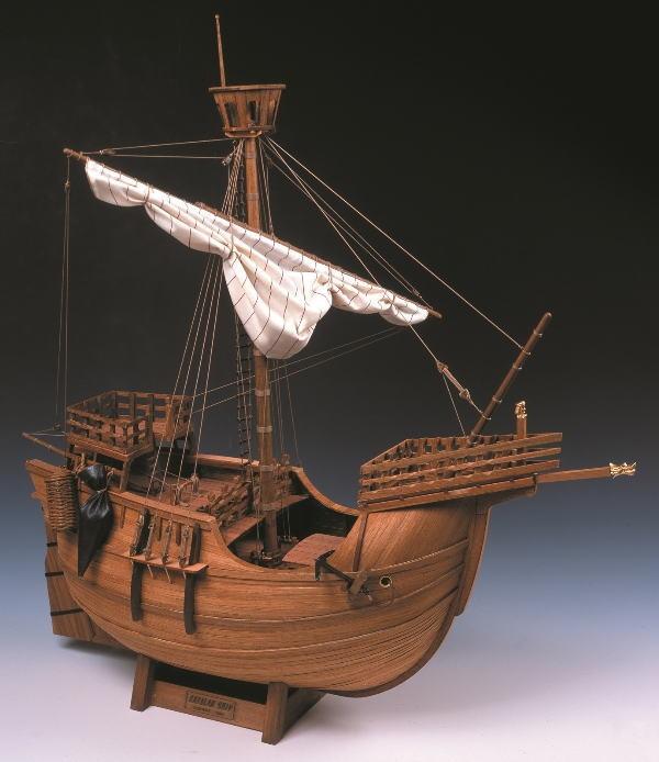 外板にはチーク材、甲板にはマホガニー材を使用! 【直送品】【代引き不可】木製帆船模型 1/30 カタロニア船 プラモデル 模型 船 組立キット 木製模型 木製帆船 帆船模型 木製帆船模型キット グッズ