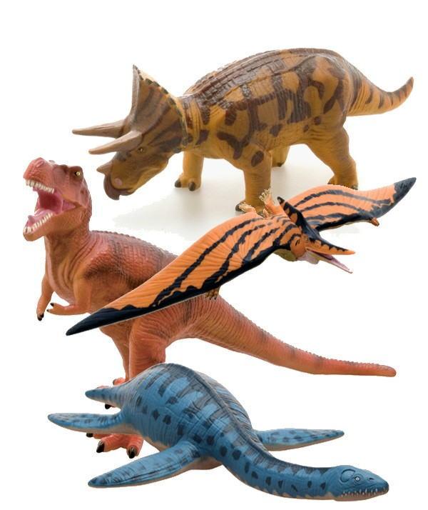 【限定クーポン】【直送品】【代引き不可】ビニールモデル 陸・海・空恐竜4体セット(70673-70671-70689-70674)
