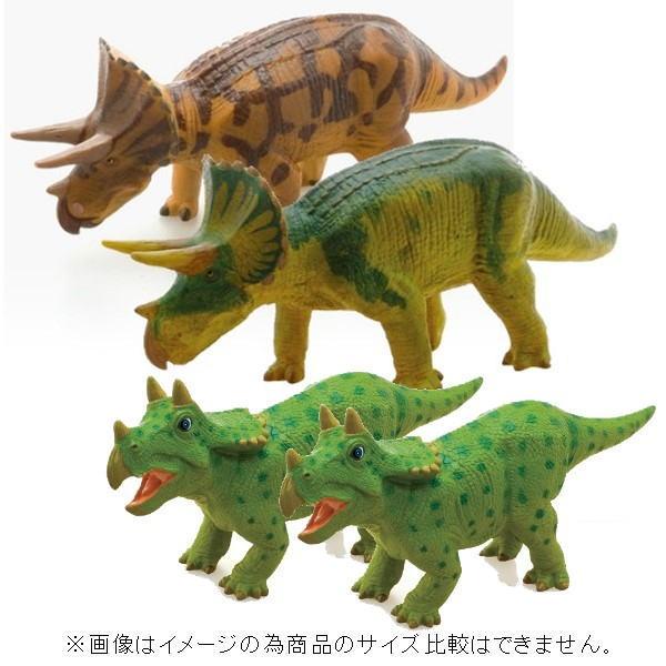 【限定クーポン】【直送品】【代引き不可】恐竜 トリケラトプス ビニールモデル 親子セット(両親恐竜+ベビー2匹)(70640-70674-73102)