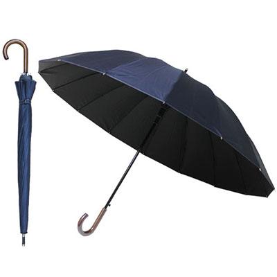 【限定クーポン】【直送品】【代引き不可】7231 耐風16本骨サマーシールドBJ長傘