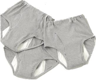 【限定クーポン】楽々安心パンツ 中失禁用 男性用 グレー同サイズ3枚組