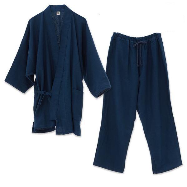 【直送品】【代引き不可】優柔 纏(まとい)ドビー織 作務衣&パジャマセット