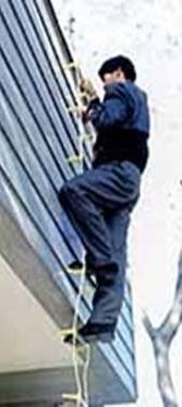 【代引き不可】避難用 アルミ縄はしご 8m MLカギ付 K11983