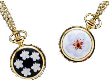 【限定クーポン】和の装い 桜 懐中時計