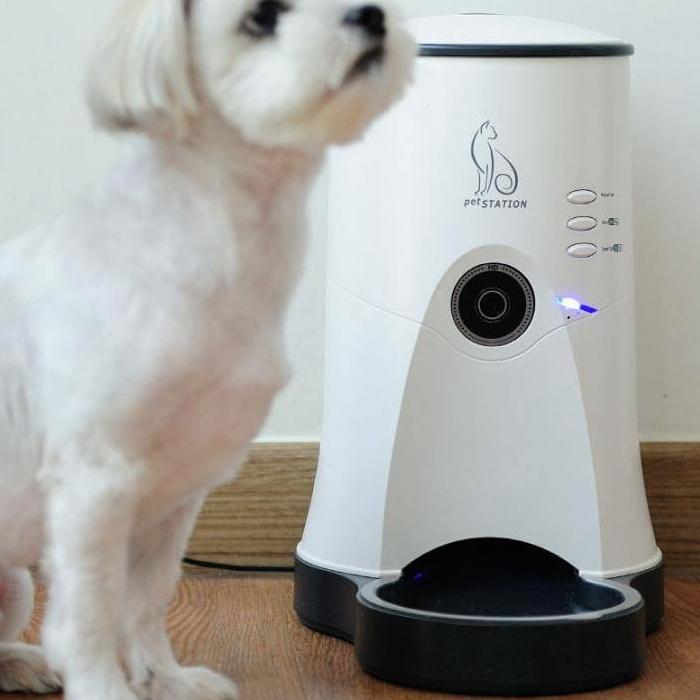 ペットステーション 給餌器 ペット 給餌機 カメラ付き自動給餌器 カメラ スマホ 遠隔操作 自動 自動給餌器 自動給餌機 エサ フード 給餌 犬用 猫用 ペット用