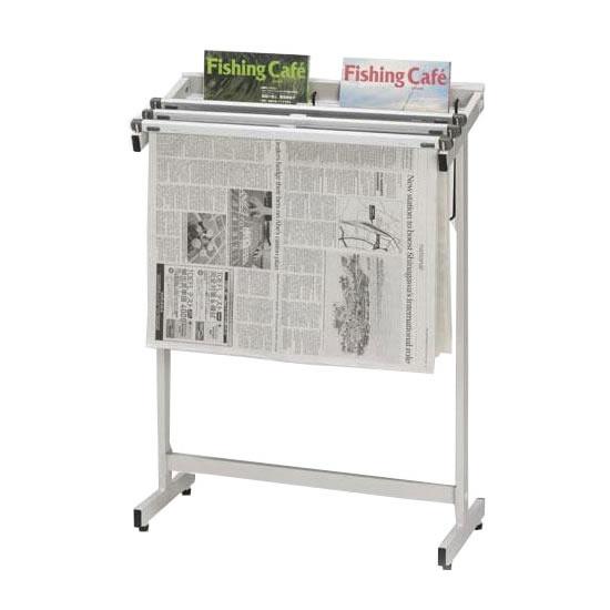 【直送品】【代引き不可】ナカキン 新聞架 3本掛 マガジンラック付 533S-WGご注文後3~4営業日後の出荷となります