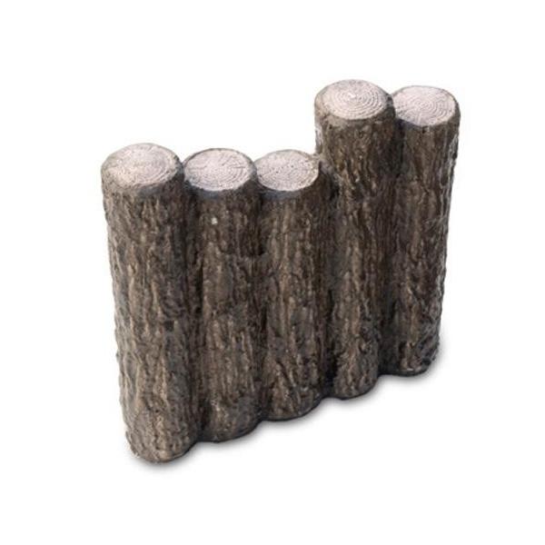 クヌギの木を思わせる、自然な風合いのコンクリート製擬木。 【直送品】【代引き不可】NXstyle 花壇材 擬木 段違五連300 ×10個 9900265ご注文後3~4営業日後の出荷となります