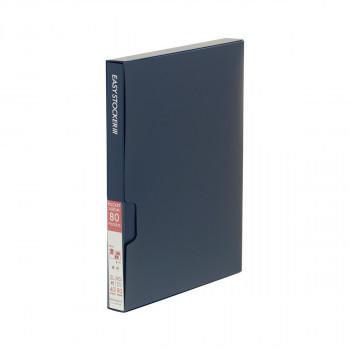 KG ポストカード と2L兼用タイプのアルバム 格安 価格でご提供いたします 直送品 代引き不可 ナカバヤシ アカ-E3PKG-80-Bご注文後3~4営業日後の出荷となります ブルー 新作 イージーストッカー3 KG判2段80枚