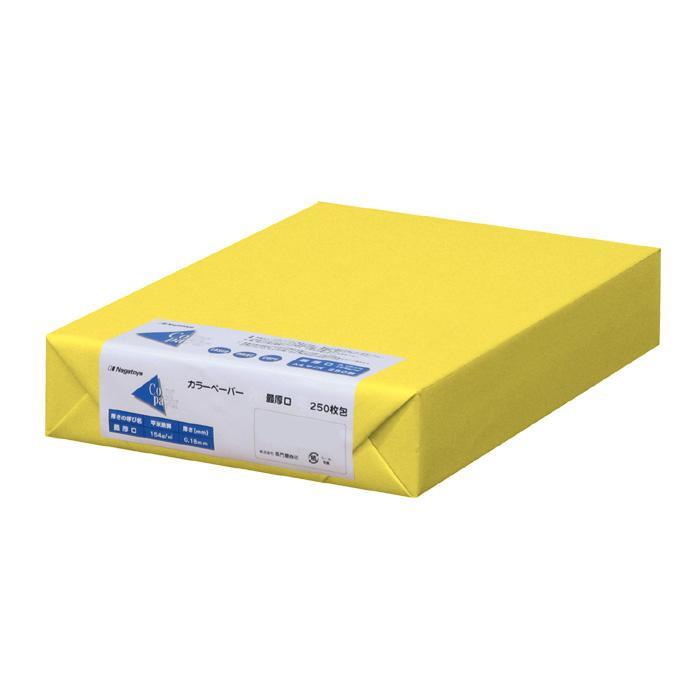 【直送品】【代引き不可】長門屋商店 カラーペーパー A3 最厚口 黄 250枚パック ナ-1555ご注文後3~4営業日後の出荷となります