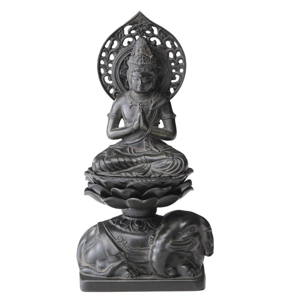 【直送品】【代引き不可】普賢菩薩15cm 古美青銅ご注文後2~3営業日後の出荷となります