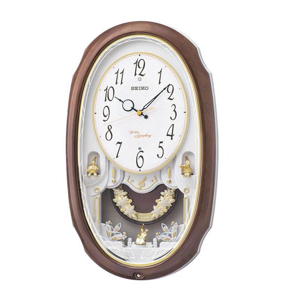 【直送品】【代引き不可】SEIKO セイコークロック 電波クロック アミューズ掛時計 ウエーブシンフォニー AM260Aご注文後2~3営業日後の出荷となります
