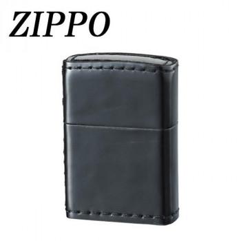 【直送品】【代引き不可】ZIPPO 革巻 コードバン ブラックご注文後3~4営業日後の出荷となります