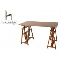 温かみや懐かしさを身近に感じる「hommage」シリーズ。 【直送品】【代引き不可】hommage Atelier Table HMT-2665 BRご注文後2~3営業日後の出荷となります