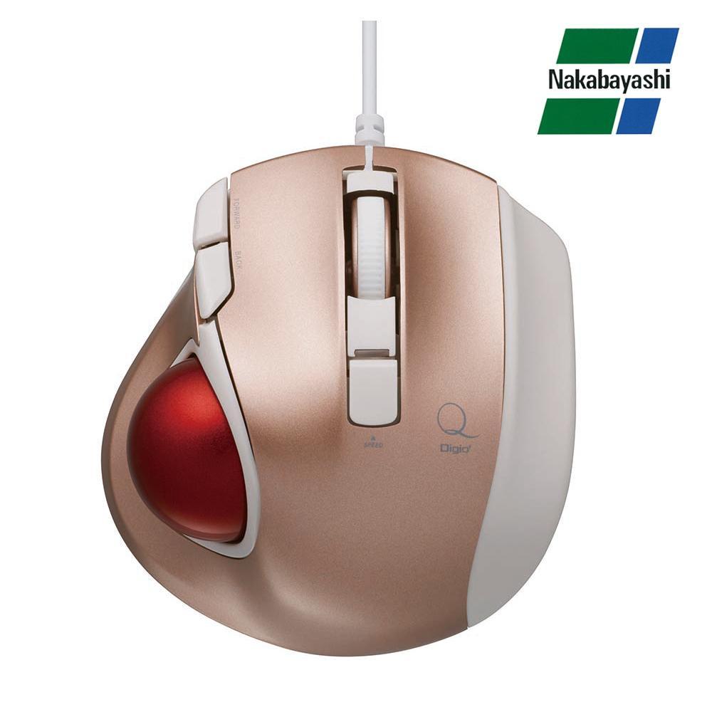 【直送品】【代引き不可】ナカバヤシ Digio2 極小トラックボール「Q」 小型 有線 静音 5ボタントラックボール ピンク MUS-TULF133Pご注文後3~4営業日後の出荷となります