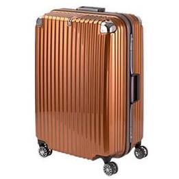 【直送品】【代引き不可】協和 TRAVELIST(トラベリスト) スーツケース ストリークII フレームハード LLサイズ TL-14 オレンジヘアライン・76-20246ご注文後2~3営業日後の出荷となります
