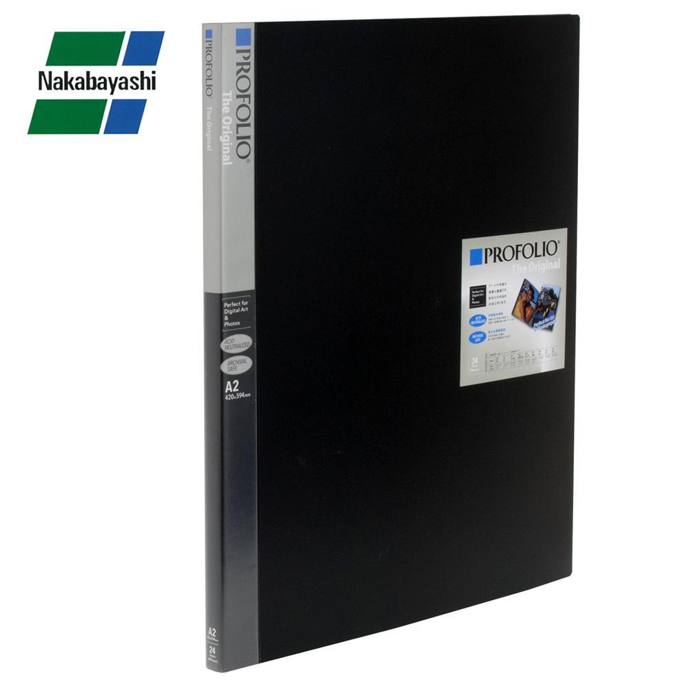 【直送品】【代引き不可】ナカバヤシ プロフォリオ A2判 24P ブラック IA-12-A2Nご注文後3~4営業日後の出荷となります