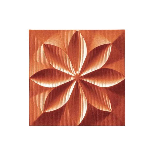 【直送品】【代引き不可】ユーパワー プラデック ウォール アート フローラル(メタルオレンジ) PL-05809ご注文後3~4営業日後の出荷となります