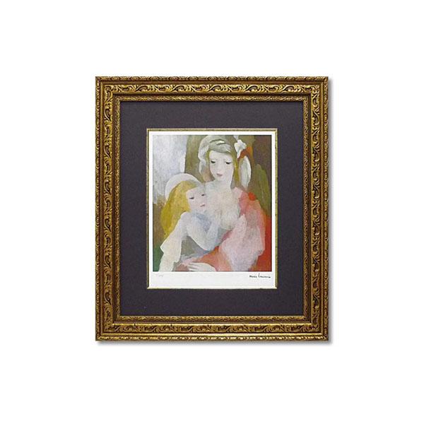 【直送品】【代引き不可】ユーパワー ミュージアム シリーズ(ジクレー版画) アートフレーム ローランサン 「母と子」 MW-18063ご注文後9~12営業日後の出荷となります