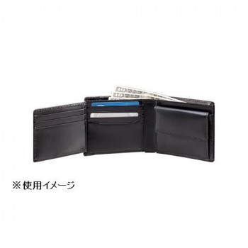 シンプルなブラックカラーの二つ折り財布 直送品 代引き不可 二つ折財布 198415-649ご注文後3~4営業日後の出荷となります セール開催中最短即日発送 NR-101 買物 ブラック