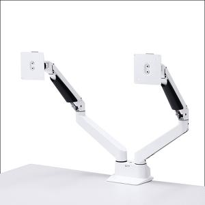 水平垂直多関節液晶モニターアーム 2面CR-LA1302WN ホワイト