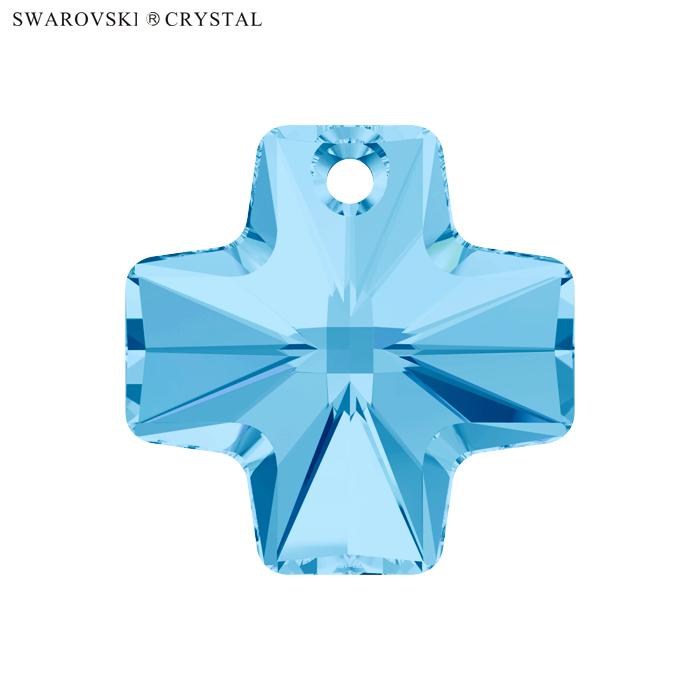 最新 生産終了カラーのため在庫限りです SWAROVSKI スワロフスキー ペンダント クロス 6866 2個入 アクアマリン お金を節約 廃番カラーのため 在庫がなくなり次第販売終了 20mm