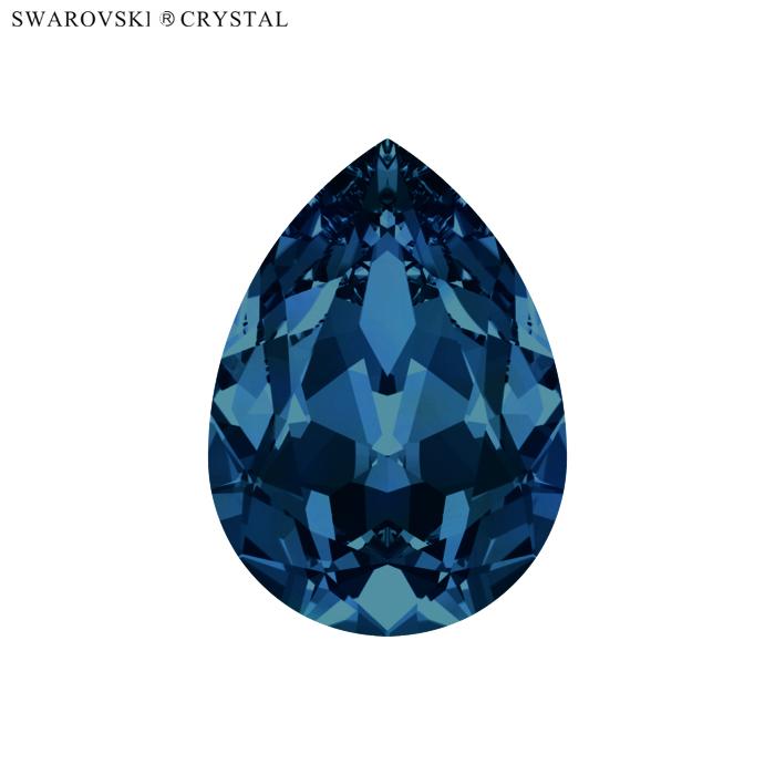 SWAROVSKI スワロフスキー ファンシーストーン ドロップ 特価品コーナー☆ 4320 6個入 モンタナ セール特別価格 14x10mm フォイル付