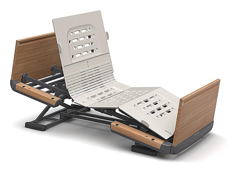 【メーカー直接発送】【非課税】パラマウントベッド 楽匠Z 3モーションシリーズ スマートハンドル付き 木製ボード(足側ボード:高)