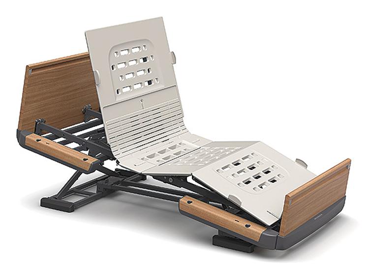 【メーカー直接発送】【非課税】パラマウントベッド 楽匠Z 3モーションシリーズ スマートハンドル付き 木製ボード(足側ボード:低)