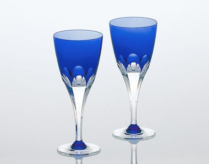 【ポイントアップ】カガミクリスタル ロイヤルブルー ペアワイングラス (KPS803-72-CCB)【内祝い】【お返し】【お祝い】【ギフト】【ご挨拶】【法事】【結婚】【ラッキーシール対応】