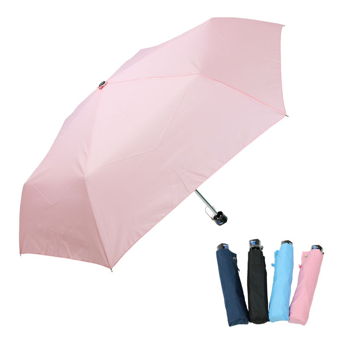 傘 レディース 折れにくい 耐風傘 55cm 三段折畳み傘 買収 5148 軽量楽々 販売期間 限定のお得なタイムセール カラフル無地