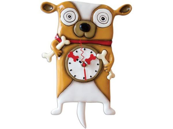 Allen Designs アレン・デザイン 骨を持った犬の振り子時計 Roofus Dog ClockMichelle Allenデザイン おすすめです♪