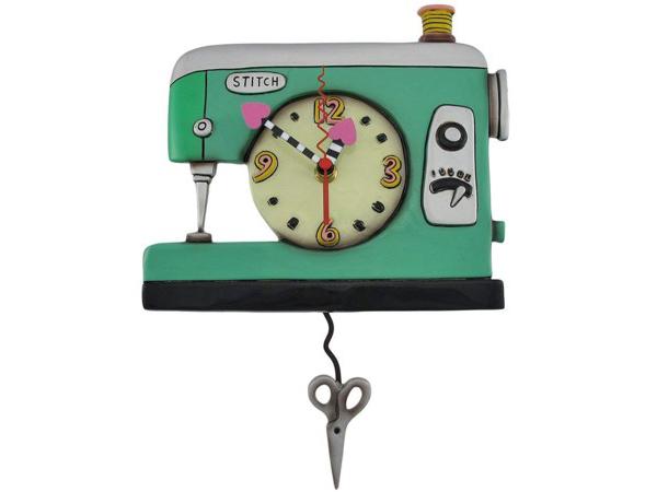 Allen Designs アレン・デザイン 緑のミシンの振り子時計 Stitch Sewing MachineMichelle Allenデザイン おすすめです♪