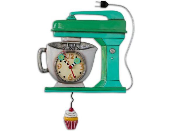 Allen Designs アレン・デザイン 緑のミキサーの振り子時計 Vintage Mixer ClockMichelle Allenデザイン