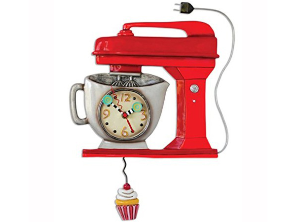Designs アレン・デザイン Vintage 赤いミキサーの振り子時計 おすすめです♪ ClockMichelle Allenデザイン Allen Mixer