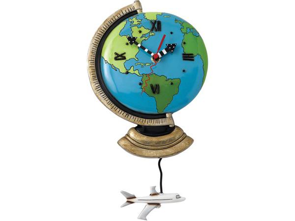 Allen Designs アレン・デザイン 地球儀の振り子時計 Globe World ClockMichelle Allenデザイン おすすめです♪
