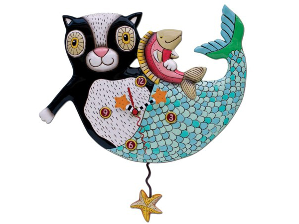 Allen Designs アレン・デザイン 猫のマーメイド振り子時計 Mermaid Cat MercatMichelle Allenデザイン