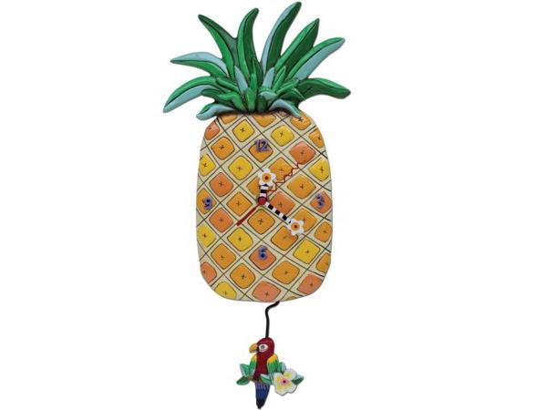 Allen Designs アレン・デザイン パイナップルの振り子時計 Pineapple Island Time ClockMichelle Allenデザイン