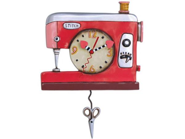 Allen Designs アレン・デザイン 赤いミシンの振り子時計 Stitch Sewing MachineMichelle Allenデザイン おすすめです♪