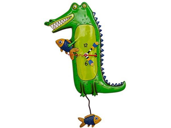 Allen Designs アレン・デザイン ワニの振り子時計 Gator Alligator ClockMichelle Allenデザイン おすすめです♪