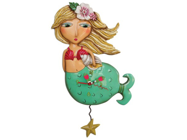 Allen Designs アレン・デザイン 人魚のシェリー振り子時計 Shelley Mermaid ClockMichelle Allenデザイン
