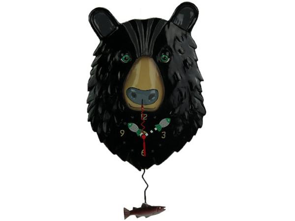 Allen Designs アレン・デザイン 黒いクマの振り子時計 Burly BearMichelle Allenデザイン