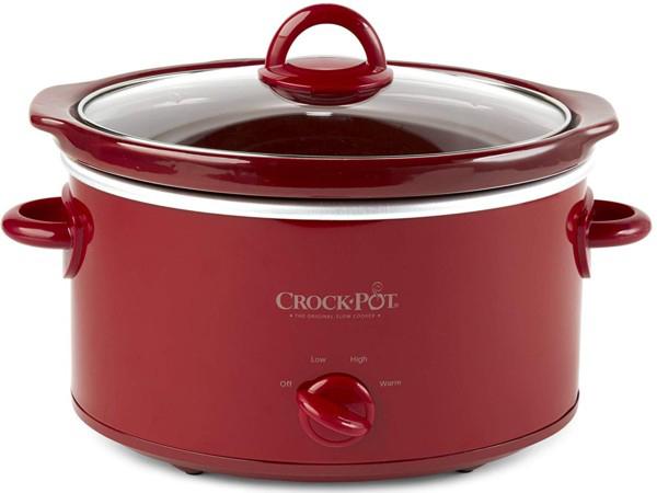 【2年保証】 Crock-Pot クロック・ポット マニュアル式オーバル・スロークッカー 3.8リットル (赤) 4QT