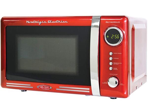 【2年保証】 Nostalgia Electrics ノスタルジア電子レンジ (赤) RMO770RED レトロなデザインの電子レンジ! おすすめです♪