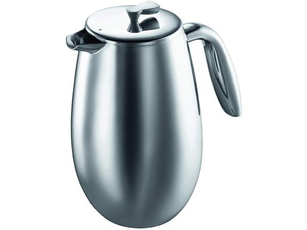 Bodum ボダム Columbia サーマル・フレンチプレス コーヒーメーカー (ステンレス) 1リットル Mサイズ