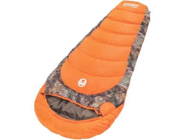 Coleman コールマン Mummy スリーピングバッグ (オレンジ/カモフラージュ) 大人用寝袋