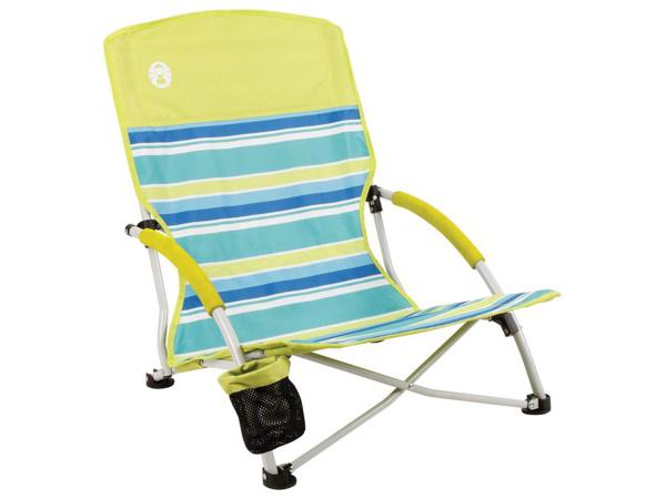 Coleman コールマン Utopia Breeze ビーチ・チェア (ライム/ブルー) 折りたたみ椅子